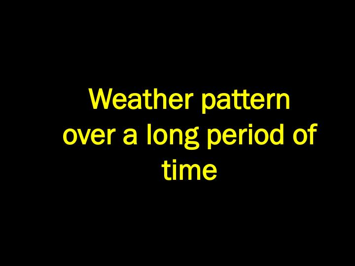 Weather pattern