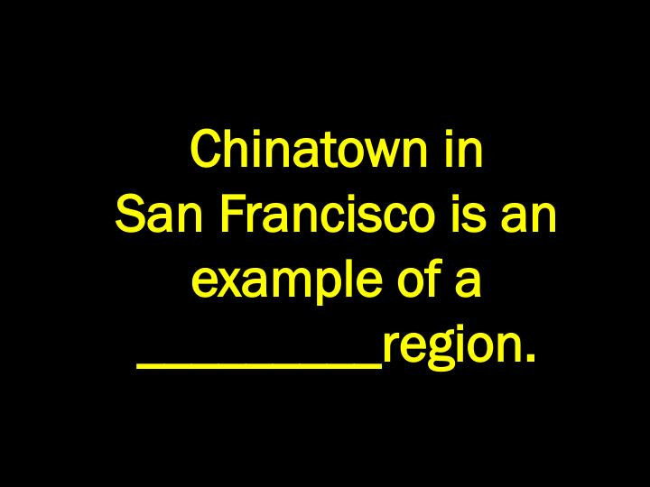 Chinatown in