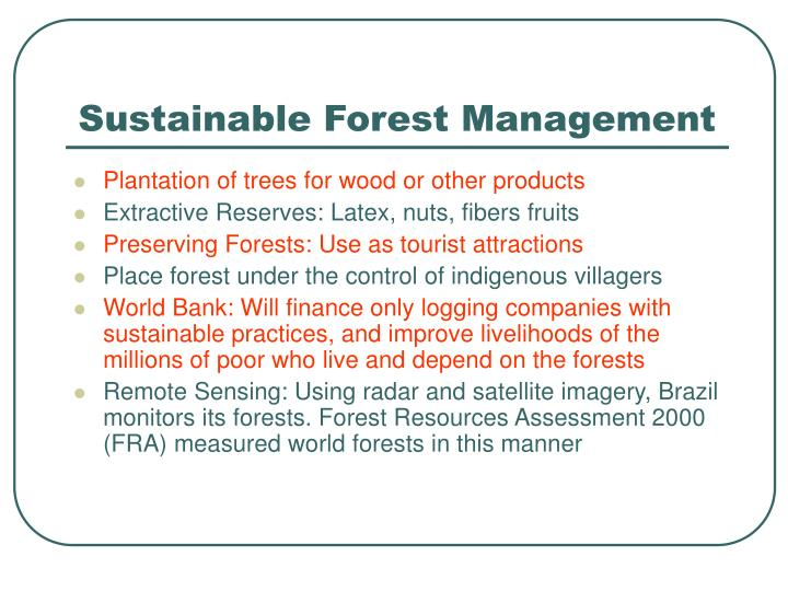 Sustainable Forest Management ~ Ppt how can we develop maintain a sustainable future