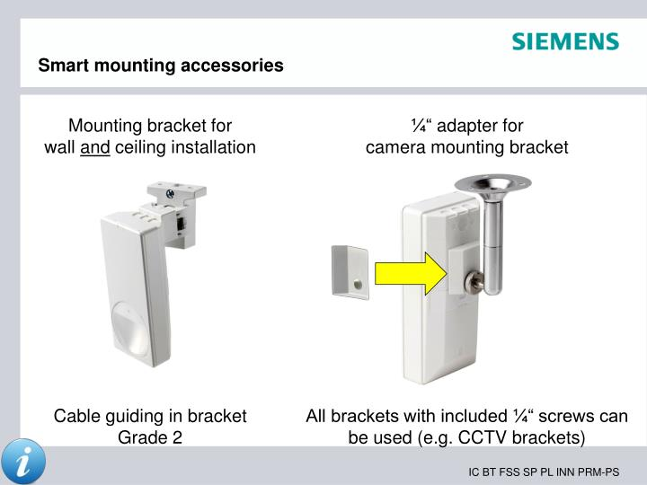Smart mounting accessories