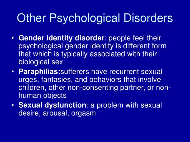 Other Psychological Disorders