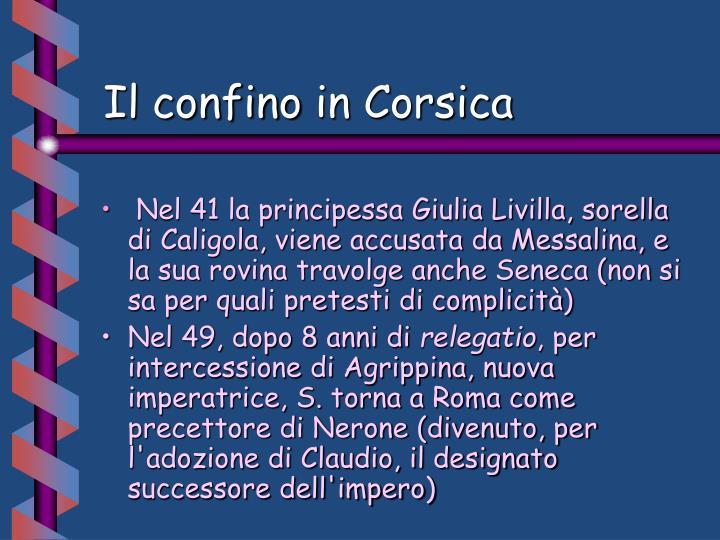 Il confino in Corsica