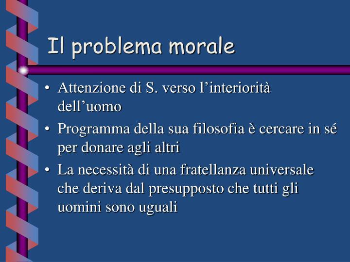 Il problema morale