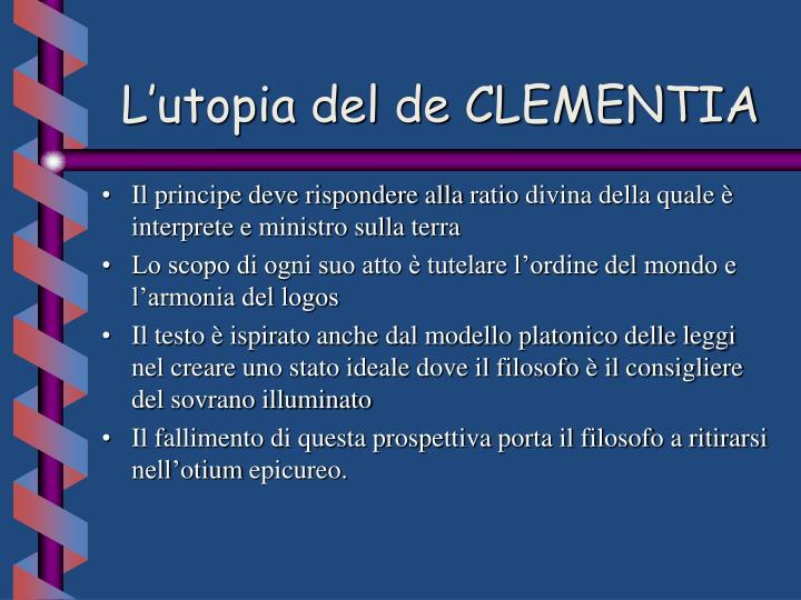 L'utopia del de CLEMENTIA