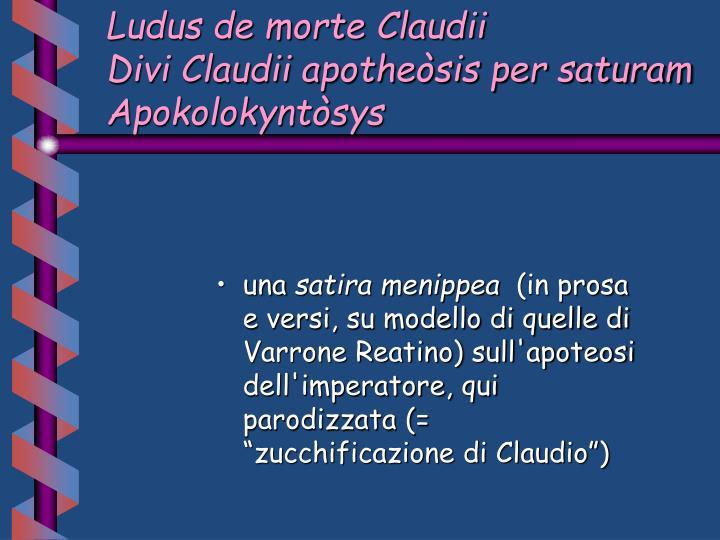 Ludus de morte Claudii