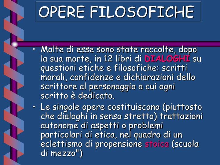 OPERE FILOSOFICHE