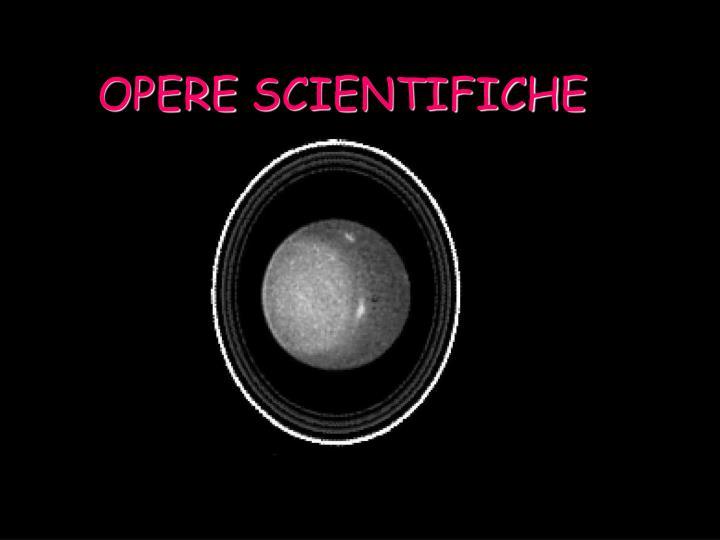 OPERE SCIENTIFICHE