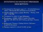 intensive outpatient program description