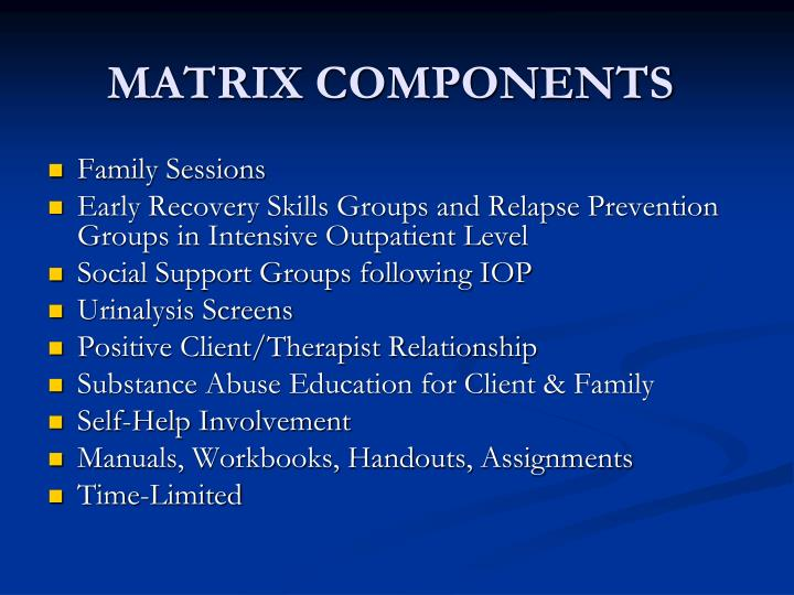 MATRIX COMPONENTS
