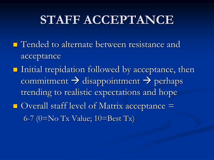 STAFF ACCEPTANCE