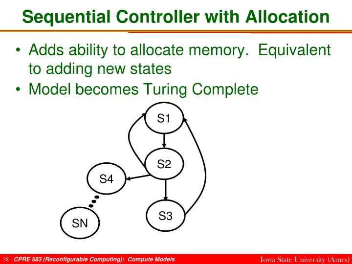 Sequential Controller with Allocation