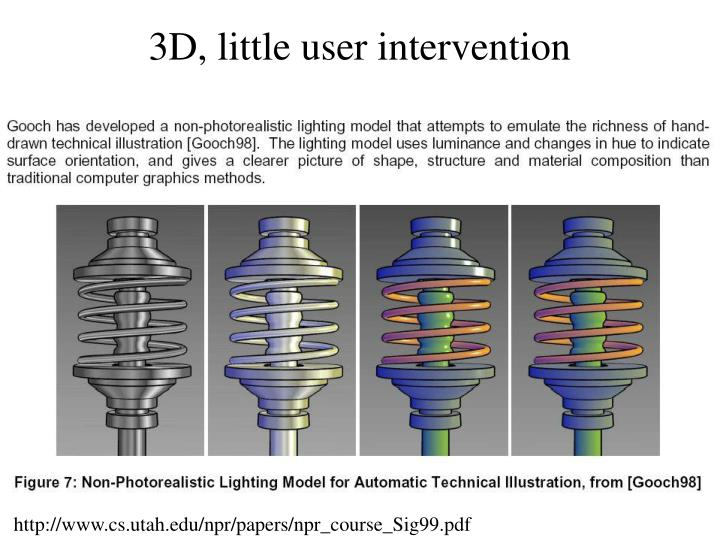 3D, little user intervention