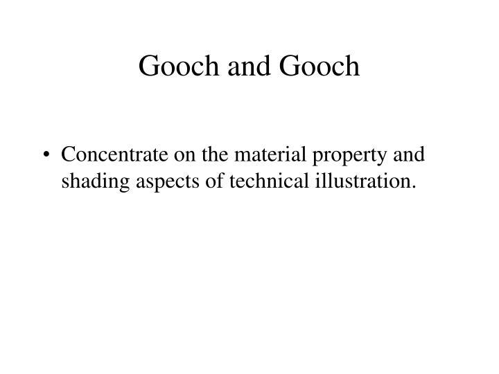 Gooch and Gooch