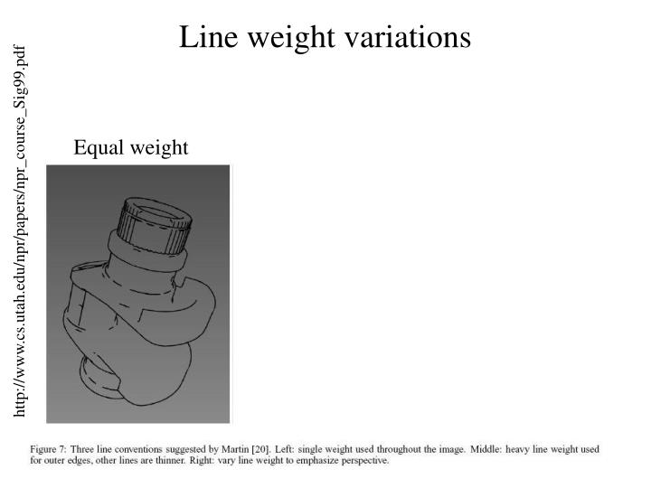 Line weight variations