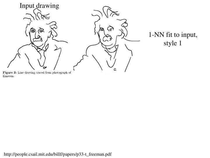 Input drawing