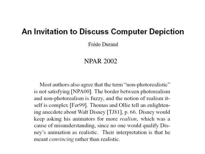 NPAR 2002