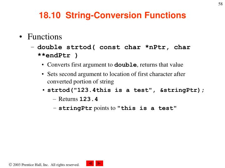 18.10  String-Conversion Functions