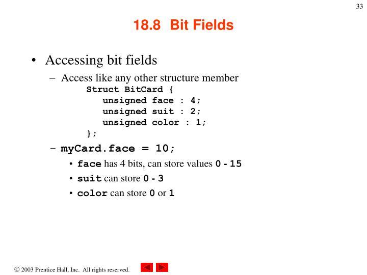 18.8  Bit Fields