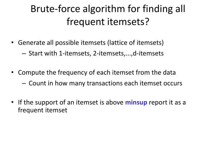 Brute-force algorithm for