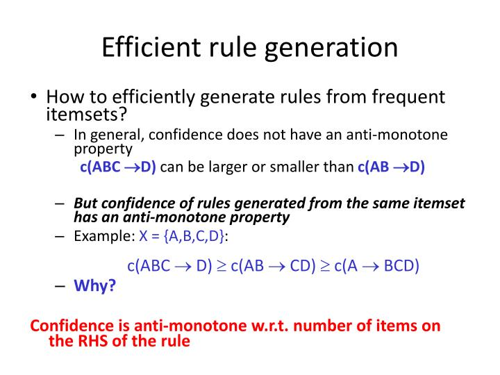 Efficient rule