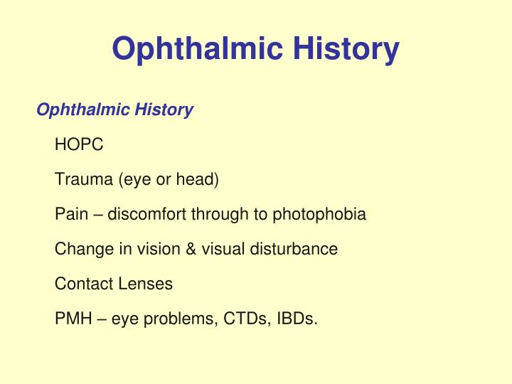 Ophthalmic History