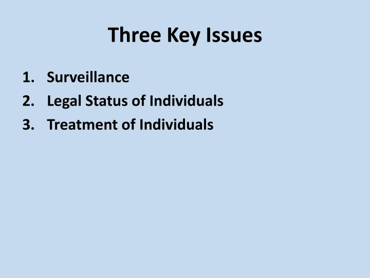Three Key Issues