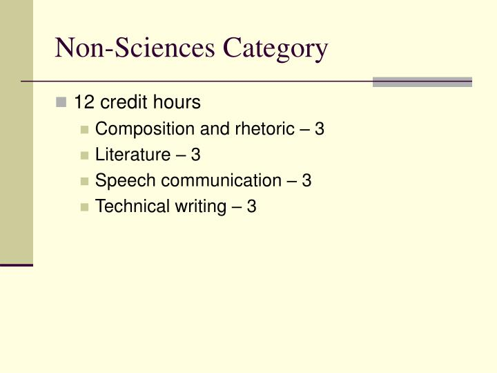 Non-Sciences Category