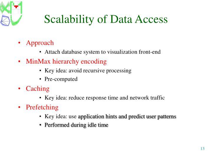 Scalability of Data Access