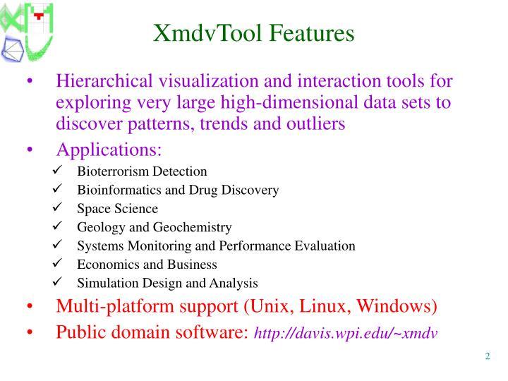 XmdvTool Features