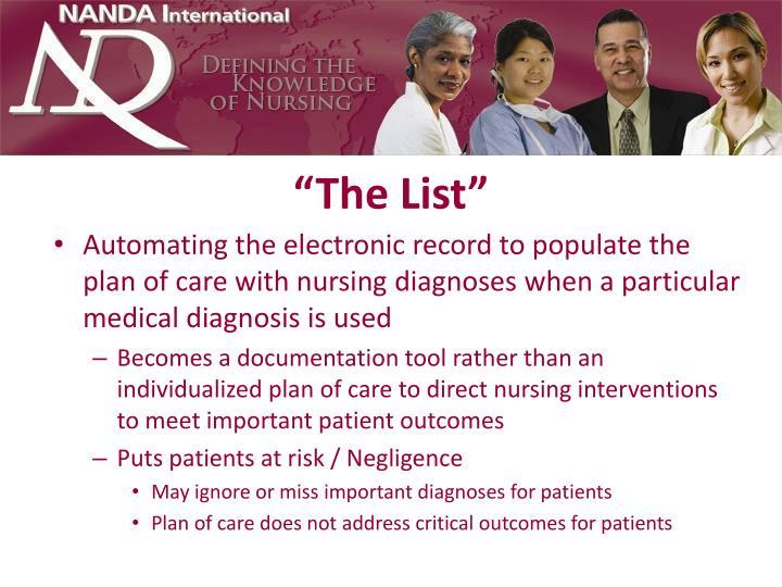 """""""The List"""""""