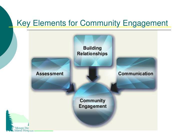 Key Elements for Community Engagement