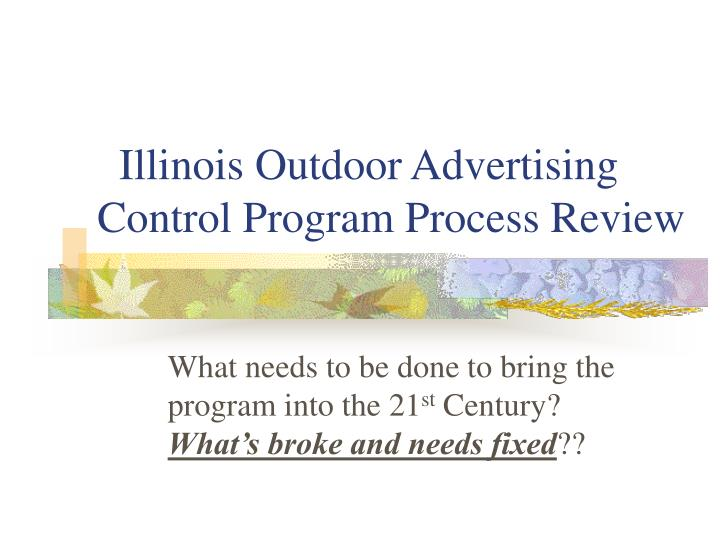 Illinois outdoor advertising control program process review