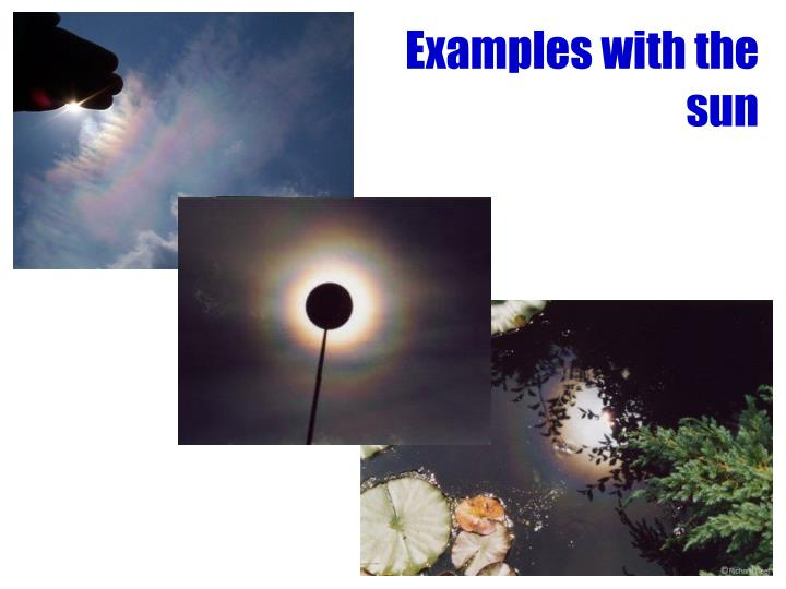 Examples with the sun