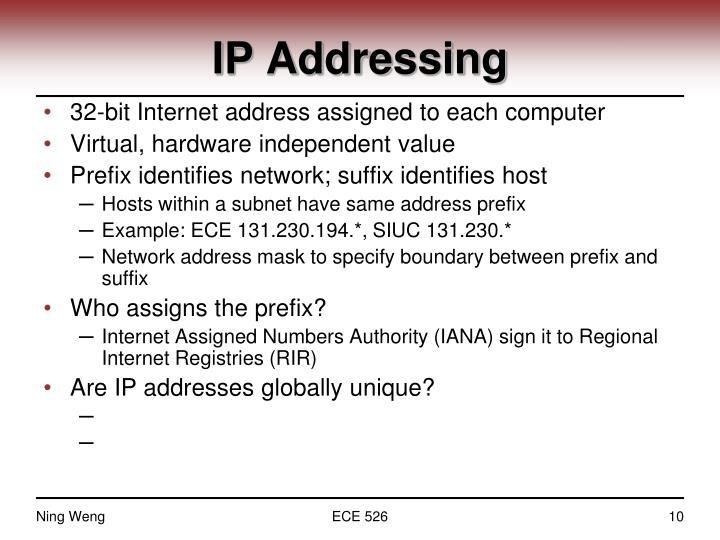 IP Addressing