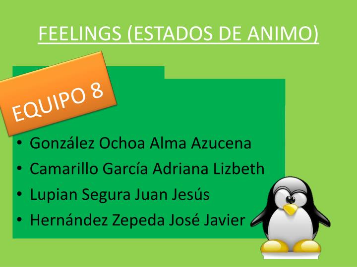 Feelings estados de animo