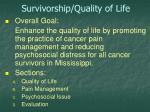 survivorship quality of life