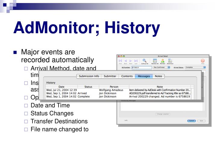 AdMonitor; History