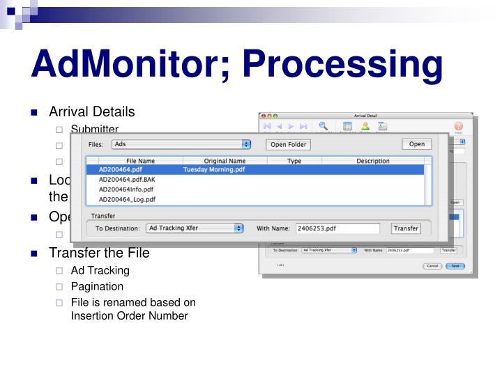 AdMonitor; Processing