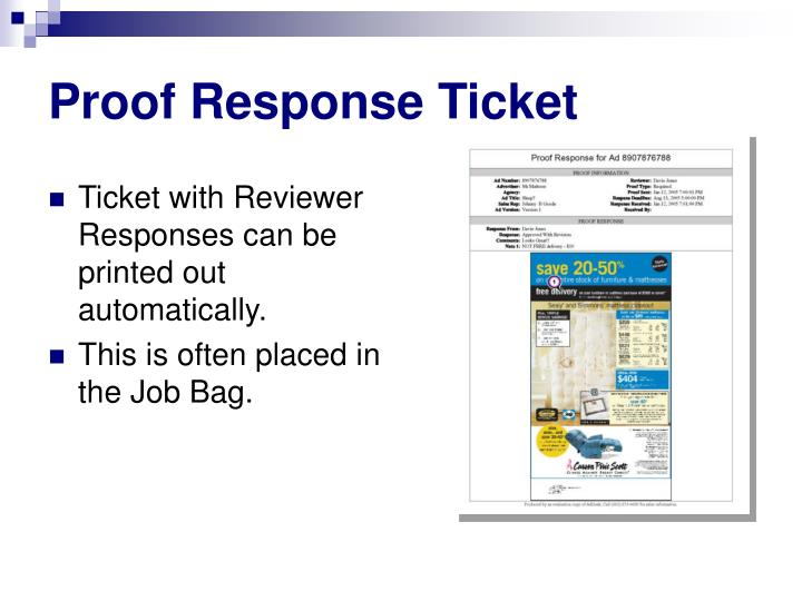 Proof Response Ticket