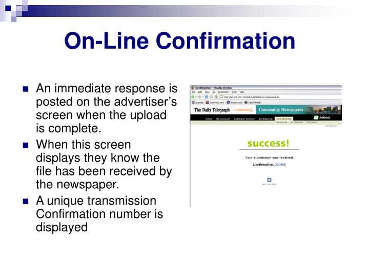 On-Line Confirmation