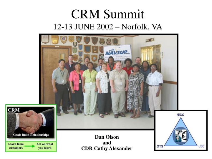 Crm summit 12 13 june 2002 norfolk va