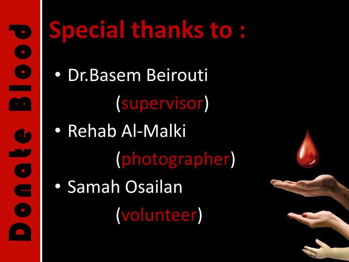 Special thanks to :