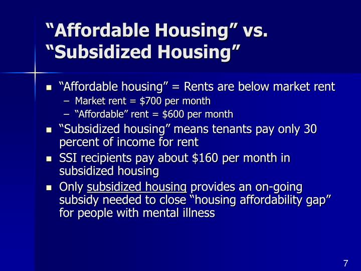 """Affordable Housing"" vs. ""Subsidized Housing"""