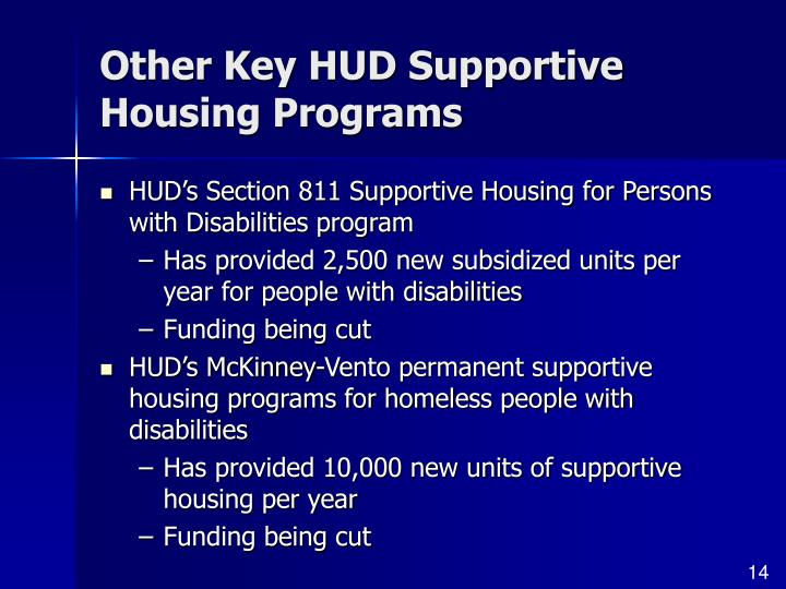 Other Key HUD Supportive Housing Programs