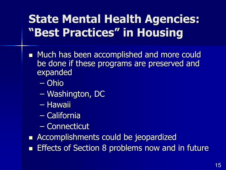 State Mental Health Agencies: