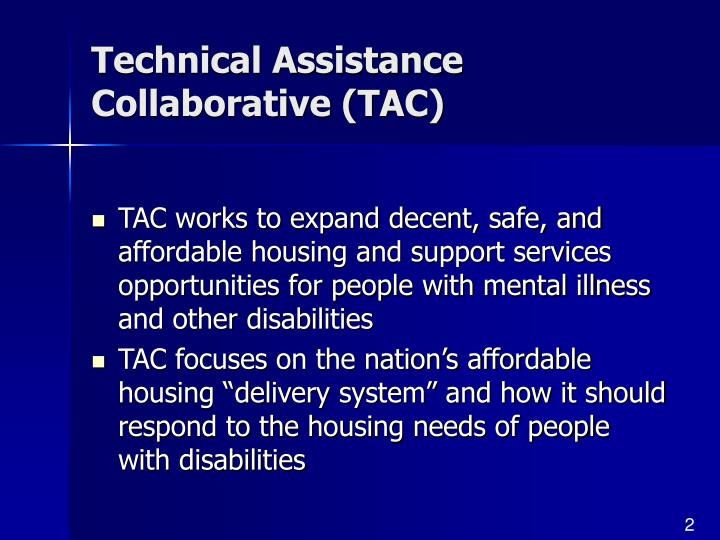 Technical Assistance Collaborative (TAC)