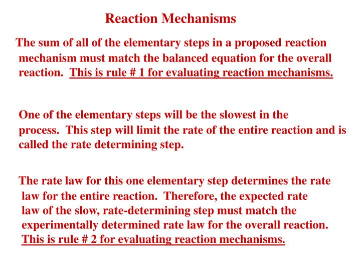 Reaction mechanisms1