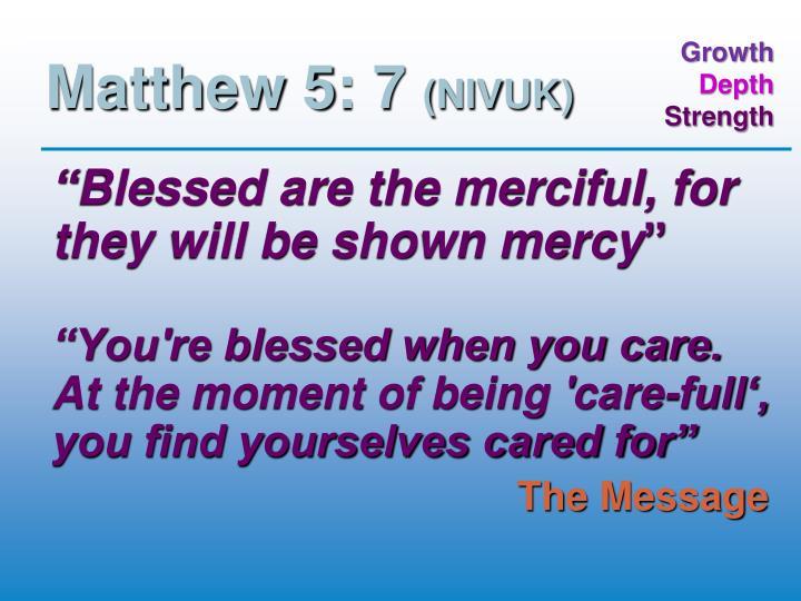 Matthew 5: 7