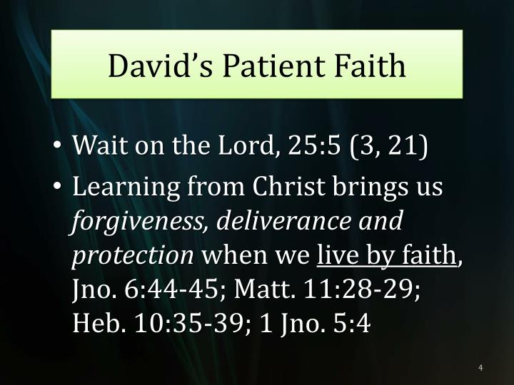 David's Patient Faith