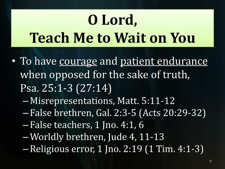 O Lord,